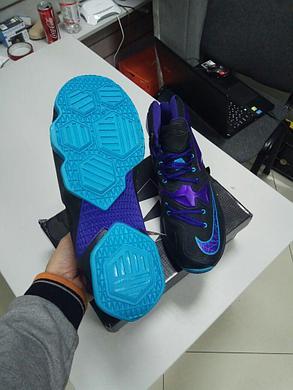 Баскетбольные кроссовки Nike Lebron 13 (XllI) Black and Purple , фото 2