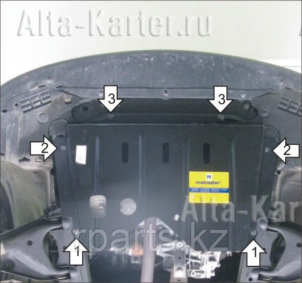 Защита картера двигателя Renault Logan 2007-2012