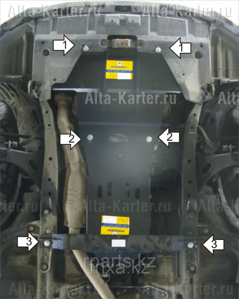 Защита картера  Subaru Outback IV 2009-2014