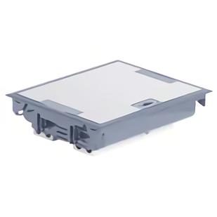 Напольная коробка, горизонтальная, 24 модуля, крышка из стали с анти-коррозионным покрытием, цвет серый