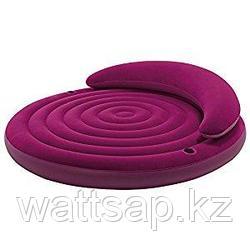 Надувная круглая кровать  Intex 191х51 см, max 200 кг, Intex 68881, поверхность флок