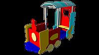 Игровой макет паровозик детский деревянный с сидениями