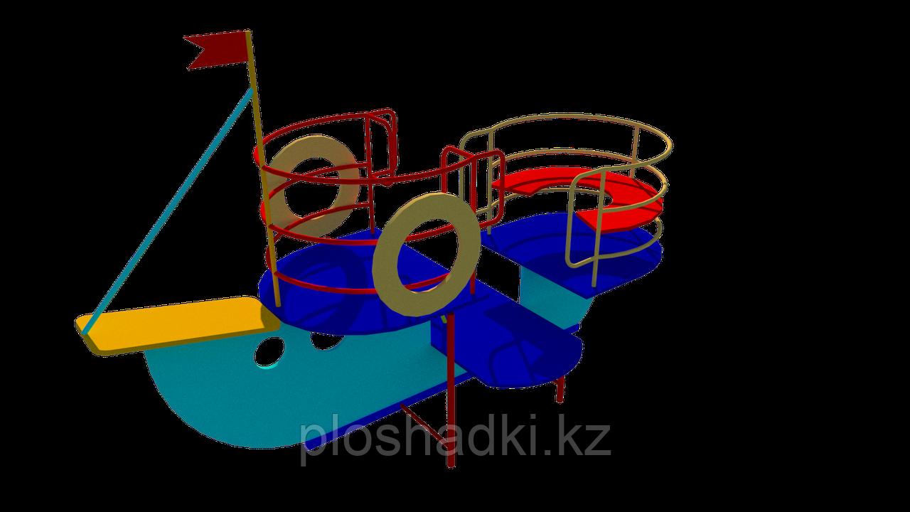 Игровой макет, кораблик детский, с сидениями