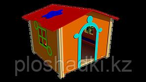 Домик игрушечный, с крышей, сидениями