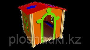 Домик игрушечный, с сидениями и крышей