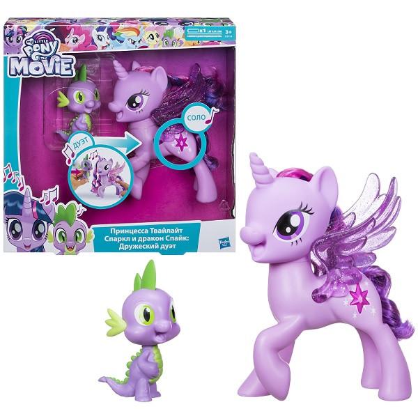 "Hasbro My Little Pony  Май Литл Пони ""Сияние"" Поющие Твайлайт и Спайк C0718"