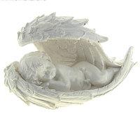 """Сувенир """"Ангел в крыле"""" белый, 10 см × 23 см × 13 см"""