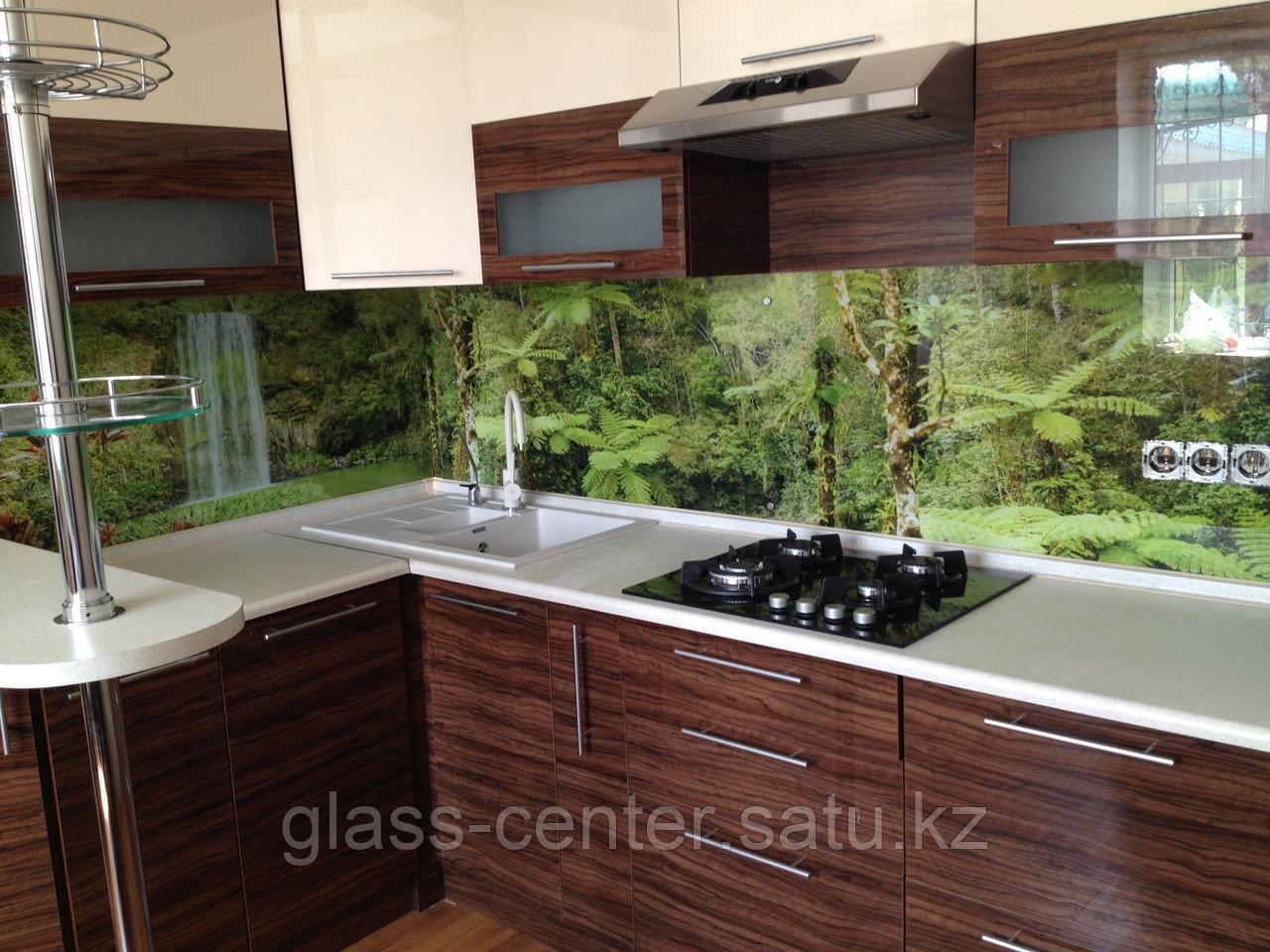 Фартук для кухни с изображением из высокопрочного стекла. Скинали - фото 2