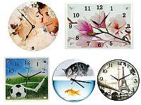Часы с любым лого, фото на ПВХ