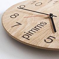 Дизайнерские часы из дерева, резка, гравировка