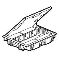 Напольная коробка, вертикальная, 16 модулей, крышка из стали с анти-коррозионным покрытием, цвет серый