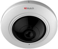 """DS-T501 - 5MP HD-TVI панорамная (""""fish-eye"""") купольная камера со встроенным микрофоном и EXIR*-ИК-подсветкой."""