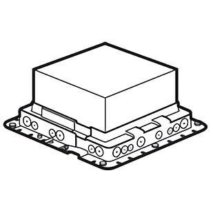 Монтажная коробка для бетонных полов, 18 модулей