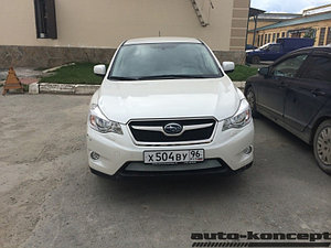 Защита радиатора Subaru XV 2012-2016 chrome