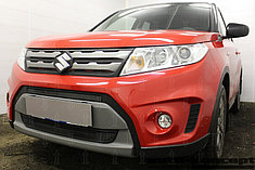 Защитно-декоративные решётки радиатора Suzuki Vitara 2014-