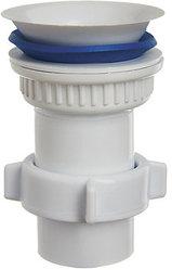Выпуск ОРИО пластиковый D-63мм-40, в сборе с гайкой 40 и конической прокладкой (А-7205-3)