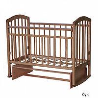 Детская кроватка Антел Алита-3 Маятник (бук), фото 1