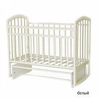 Детская кроватка Антел Алита-3 Маятник (белый), фото 1