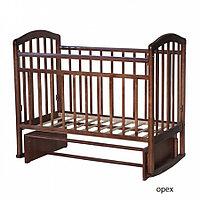 Детская кроватка Антел Алита-3 Маятник (орех), фото 1