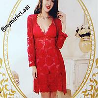 Сорочка кружевная  и халатик., фото 1
