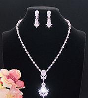 """Комплект украшений """"Султан Ахмет"""" с прозрачными кристаллами"""