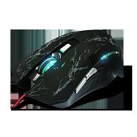 Проводная  USB мышь, игровая, чёрная. Crown micro CMXG-600
