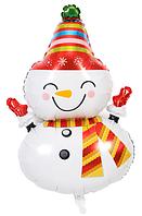 Новогодний воздушный шар Снеговик