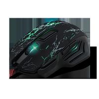 Проводная  USB мышь, игровая, чёрная. CROWN MICRO CMXG-601