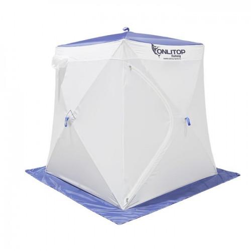 """Палатка """"Призма Стандарт"""" 150, 1-слойная, цвет бело-синий"""