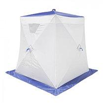"""Палатка """"Призма Стандарт"""" 150, 1-слойная, цвет бело-синий, фото 2"""