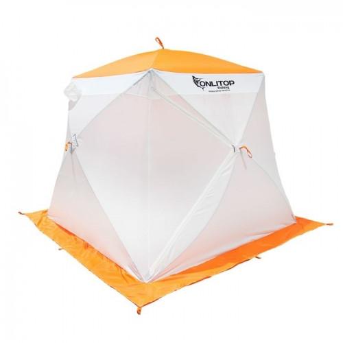 """Палатка """"Призма Стандарт"""" 200, 1-слойная, цвет бело-оранжевый"""