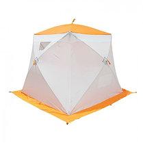 """Палатка """"Призма Стандарт"""" 200, 1-слойная, цвет бело-оранжевый, фото 2"""