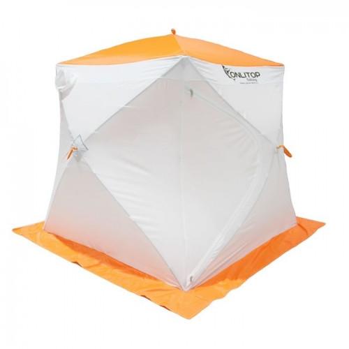 """Палатка """"Призма Стандарт"""" 170, 2-слойная, цвет бело-оранжевый"""