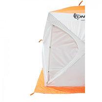 """Палатка """"Призма Стандарт"""" 170, 2-слойная, цвет бело-оранжевый, фото 3"""