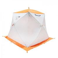 """Палатка """"Призма Люкс"""" 200, 1-слойная, с 1 входом, цвет бело-оранжевый"""