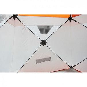 """Палатка """"Призма Люкс"""" 200, 1-слойная, с 1 входом, цвет бело-оранжевый, фото 2"""