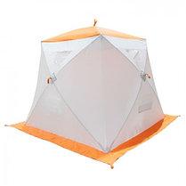"""Палатка """"Призма Люкс"""" 200, 1-слойная, с 1 входом, цвет бело-оранжевый, фото 3"""