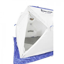 """Палатка """"Призма Люкс"""" 200, 2-слойная, с 1 входом, цвет бело-синий, фото 2"""