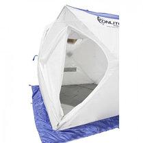 "Палатка ""Призма Люкс"" 170, 2-слойная, цвет бело-синий, фото 2"