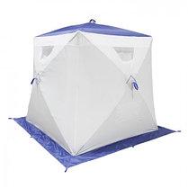 "Палатка ""Призма Люкс"" 170, 2-слойная, цвет бело-синий, фото 3"