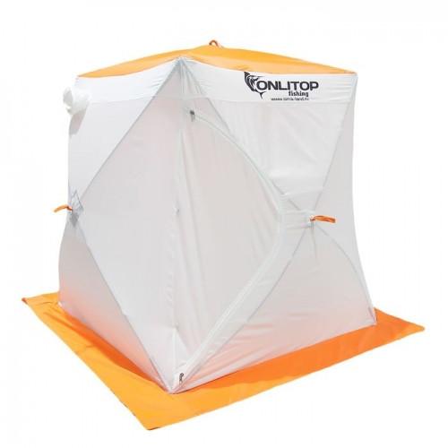 """Палатка """"Призма Стандарт"""" 150, 2-слойная, цвет бело-оранжевый"""