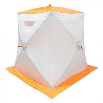 """Палатка """"Призма Стандарт"""" 150, 2-слойная, цвет бело-оранжевый, фото 3"""
