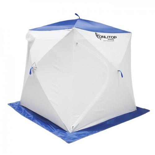 """Палатка """"Призма Стандарт"""" 170, 2-слойная, цвет бело-синий"""