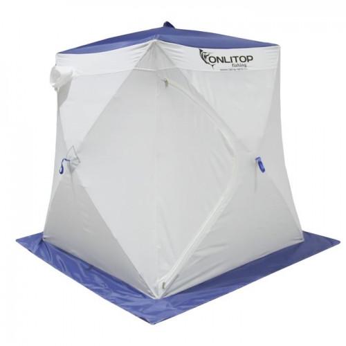 """Палатка """"Призма Стандарт"""" 150, 2-слойная, цвет бело-синий"""