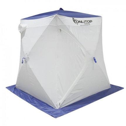 """Палатка """"Призма Стандарт"""" 150, 2-слойная, цвет бело-синий, фото 2"""