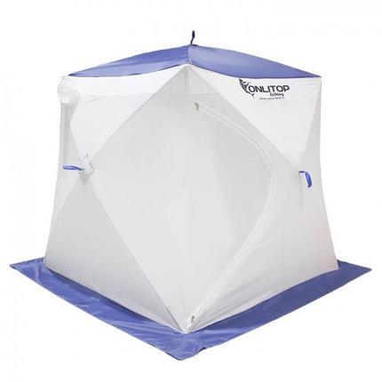 """Палатка """"Призма Стандарт"""" 150, 3-слойная, цвет бело-синий, фото 2"""