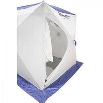 """Палатка """"Призма Стандарт"""" 150, 3-слойная, цвет бело-синий, фото 3"""