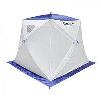 """Палатка """"Призма Люкс"""" 200, 1-слойная, с 2 входами, цвет бело-синий"""
