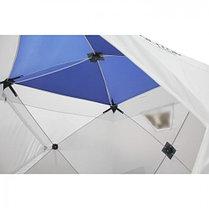 """Палатка """"Призма Люкс"""" 200, 1-слойная, с 2 входами, цвет бело-синий, фото 2"""