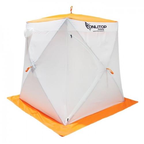 """Палатка """"Призма Стандарт"""" 150, 3-слойная, цвет бело-оранжевый"""